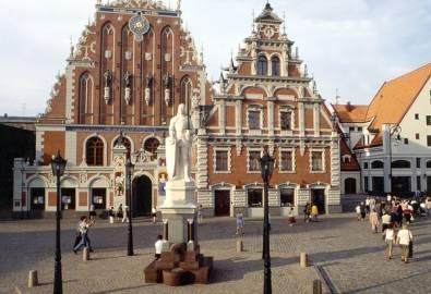 Lettland Riga Schwrzhäupterhaus