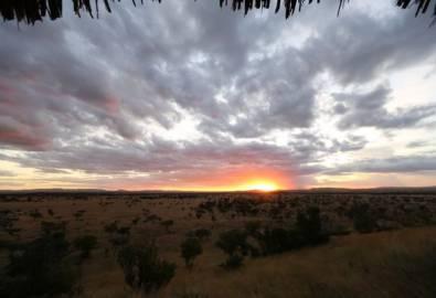 Tansania Grumeti Hills Lodge Sonnenuntergang