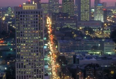 USA Atlanta Skyline bei Nacht