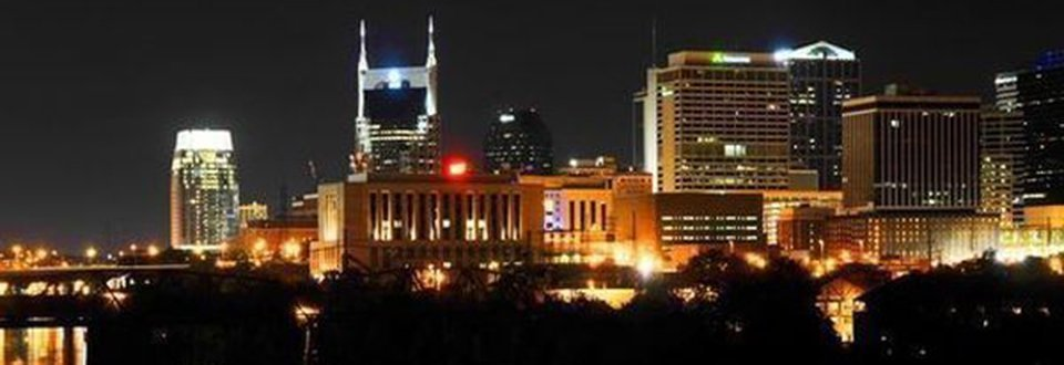 USA Nashville bei Nacht
