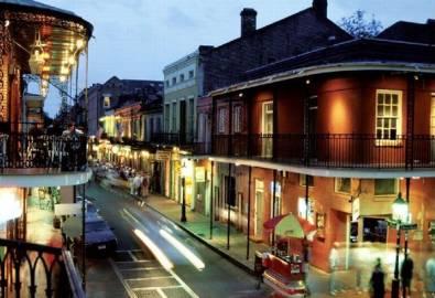 USA New Orleans bei Nacht