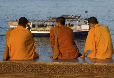 Kambodscha - Mönche in Phnom Penh