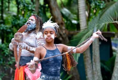 Young Adult Indigenous AustralianWoman Dancing