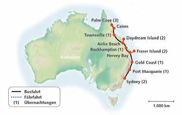 Australien, Faszinierende Ostküste 2019-20