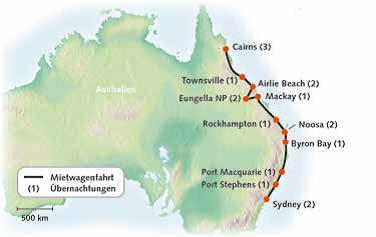 Australien, Naturwunder entlang der Ostküste 2019-20