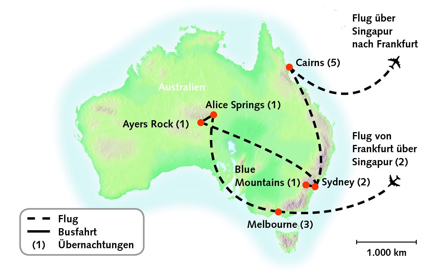 Routenkarte_Australien_18T_AkzenteAustraliens_Update_2019_02_CMYK