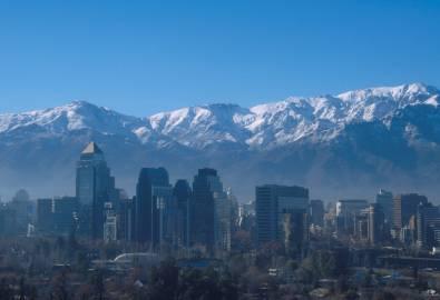 Andenkette hinter Santiago de Chile