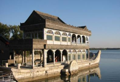 China Peking Sommerpalast Marmorboot