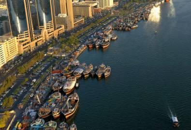 Dubai Creek zum Landesinneren