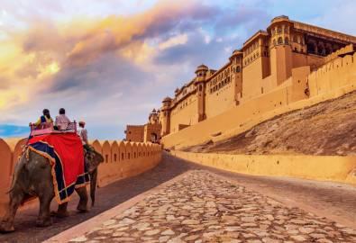 Indien - Elefantenritt Amber Fort