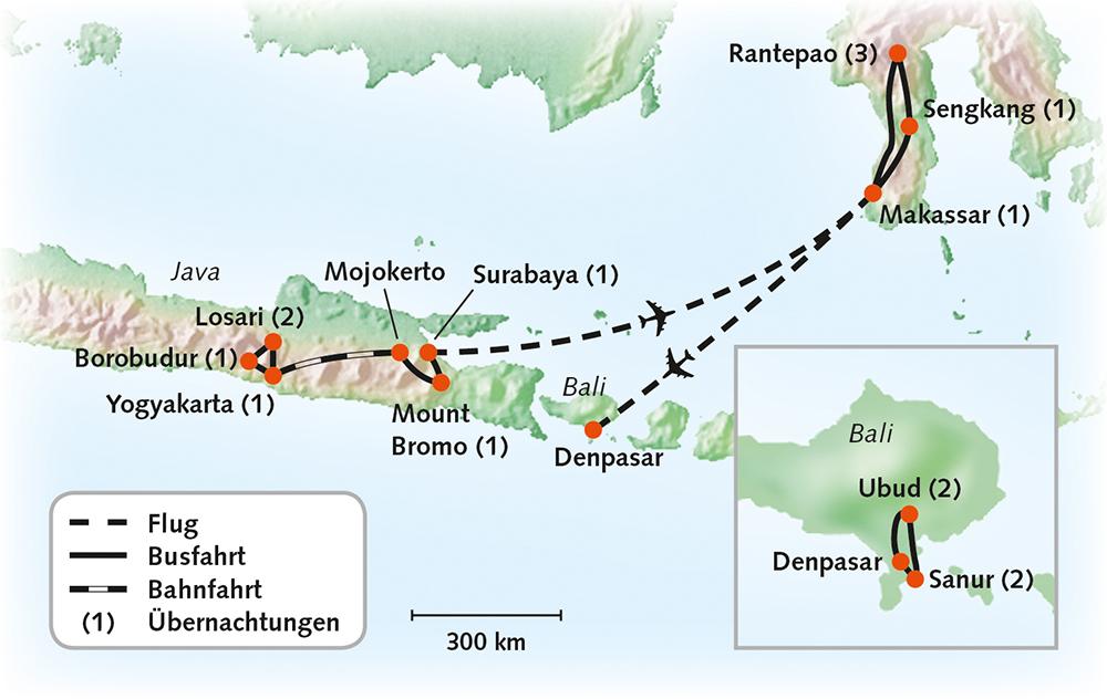 Indonesien (Java, Sulawesi & Bali)