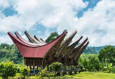Indonesien Sulawesi Toraja Haeuser