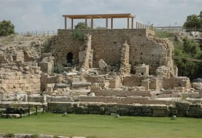 Israel Caesarea Römische und byzantinische Ruinen