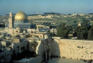 Israel-Jerusalem Klagemauer und Felsendom