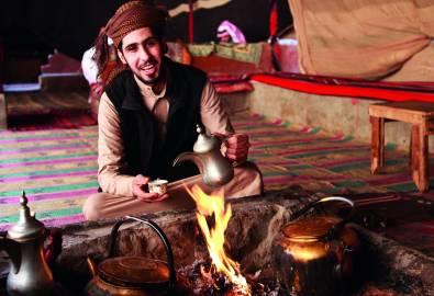 Bedouin man in Wadi Rum tent