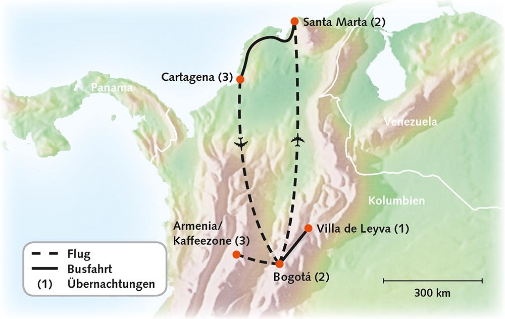 Kolumbien - Höhepunkte Kolumbiens