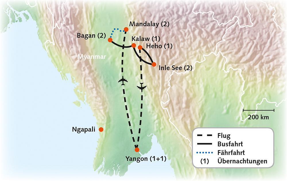 Myanmar - Goldenes Land der Mystik