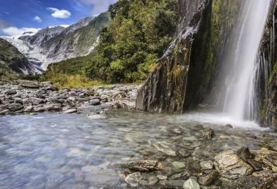 Wasserfall Franz Josef Glacier Valley