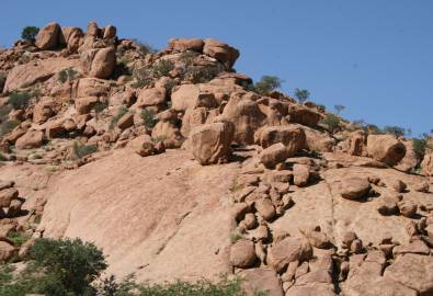 Namibia-Damaraland-Granitbloecke