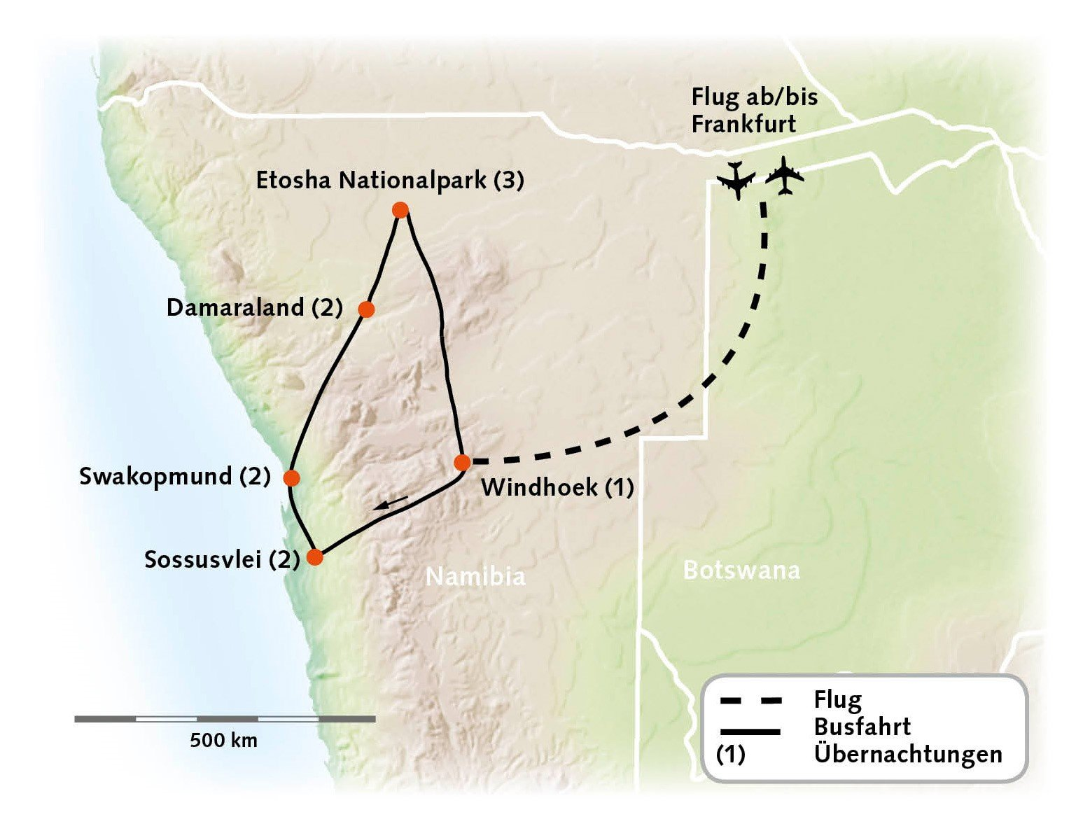Namibia Höhepunkte