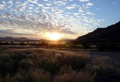 Namibia-Sonnenaufgang