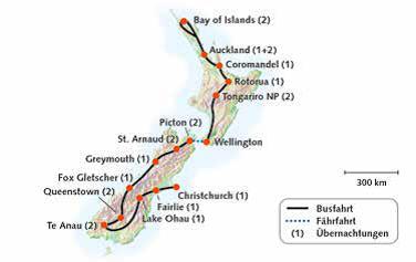 Neuseeland, Wanderreise 2019-20