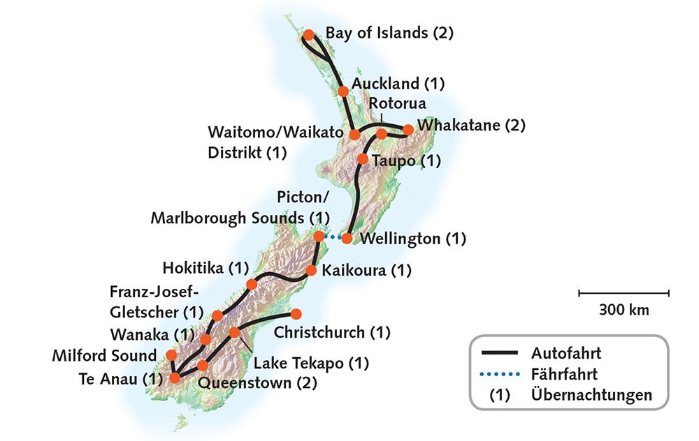 Routenkarte_Neuseeland_ImLandDerKiwis_19T_KiKa 2019-2020_RGB