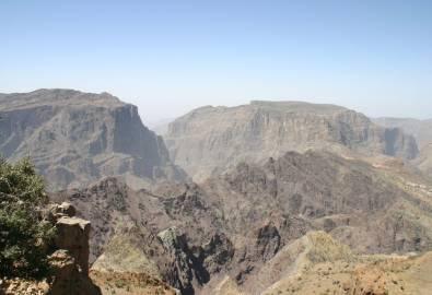 Oman Jebel Akhdar Berge