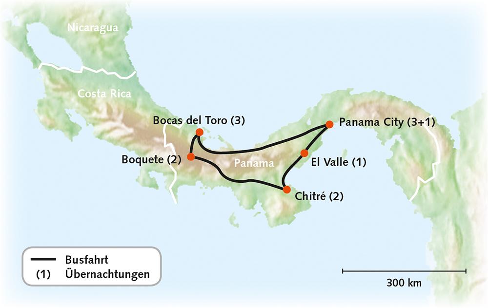Panama Brücke zwischen den Kontinenten