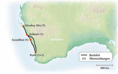 Perth Outback und Küste