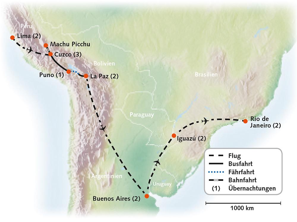 Südamerika Große Südamerika-Rundreise