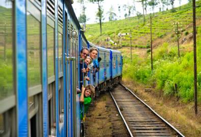Auf der Zugfahrt von Kandy nach Nanu Oya
