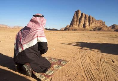 jordanien - Mann-betend
