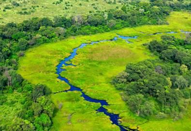 Flug Okavango Delta