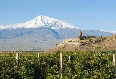 Armenien Berg Ararat Chor Virap