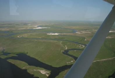 Botswana Okavango Delta von oben