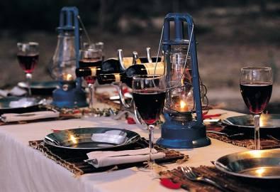 Botswana Zeltcamp Abendessen