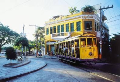 Brasilien Rio de Janeiro Strassenbahn