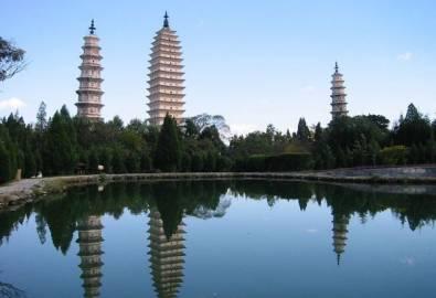 China Yunnan Dali Pagode Tempel