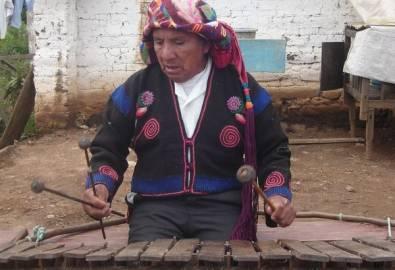 Guatemala Palo Volador Musiker
