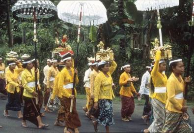 Indonesien Bali Prozession