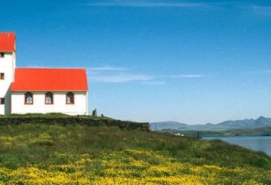 Island Kirche Laugarvatn Gegend