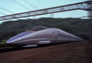 Japan Shinkansen Superexpress Zug