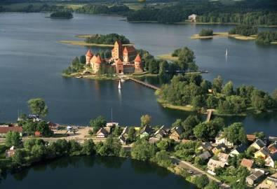 Litauen Trakai Inselburg