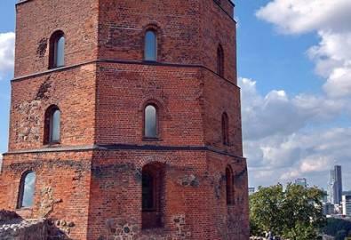 Litauen Vilnius Gediminas Turm