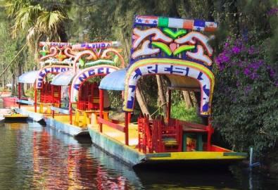 Mexiko City schwimmende Gärten