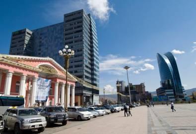 Mongolei Ulaan Baatar Stadtzentrum