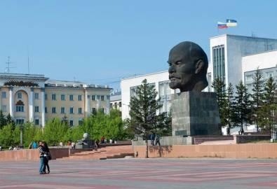 Mongolei Ulan Ude Lenin Denkmal