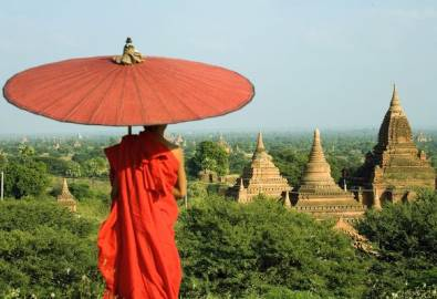 Myanmar Bagan Mönch
