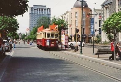 Neuseeland Christchrch Straßenbahn